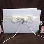 Dangling Hearts Guest Book - White or Ivory