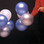 Slide clusters onto arch, alternating balloon colors