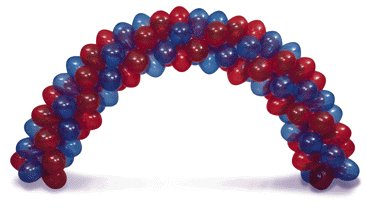Sprial 4 balloon cluster arch