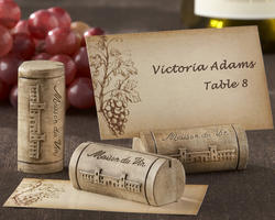 """Maison du Vin"" Wine Cork Place Card/Photo Holders (Set of 4)"