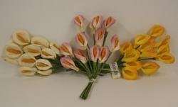 Calla Lily Favor Flowers - Pkg 144 - Colors!
