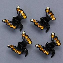 Rhinestone Tipped Butterfly Clip - 3 Colors!