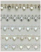 10 Yards Heart Shape Beads - 5 Colors