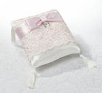 Soft Elegance Pink Sequin Ring Pillow