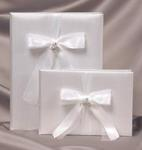 Pave Heart Wedding Guest Book - White or Ivory