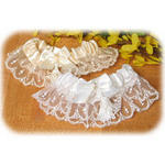Brocade Garter - White or Ivory