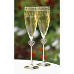 Jeweled Anniversary Flutes - 25th or 50th
