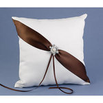 Shimmering Mocha Ring Pillow