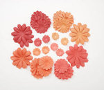 Orange Hues Paper Flower Petals - Pkg 32