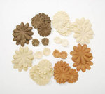 Brown Hues Paper Flower Petals - Pkg 32