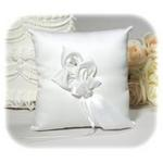 Satin Calla Lily Ring Pillow - White or Ivory