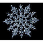 4 Glitter Snowflake Decorations - 4 Colors!