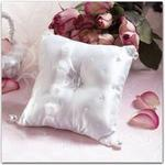 Chiffon Petals Ring Pillow