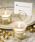 Heart Design Candle Favors/Place Card Holder
