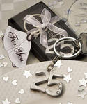 Silver Anniversary Key Ring Favor