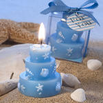 Beach Themed Wedding Cake Candle Favors