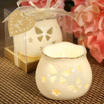 Butterfly Design Candle Holders from the Porcelain Remembrances Collection