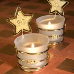 Gold Star Design 50th Anniversary Candle Favor
