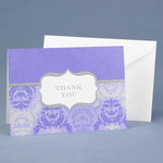 Damask & Crest Orchid Thank You - Pkg 50