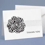 Zebra Flower Thank You - Pkg 50