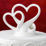 Sleek Interlocking Hearts Design Cake Topper