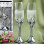 Fleur de lis Collection - Toasting Flutes
