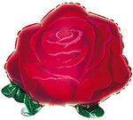 22 Inch Red Rose Shape Mylar Balloon