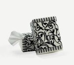 Black & White Wedding Facial Tissues - Pkg 10