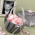 Silver Duet Flower Basket
