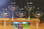 COLORED Plastic Champagne Glasses - Pkg 12