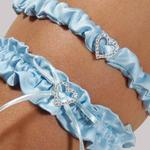 Blue Crush Bridal Garter Set