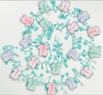 12' Baby Clothes Wired Garland