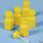 Yellow Hexagon Bubble Bottles - Pkg 48