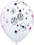 11 Cards & Dice Latex Balloon