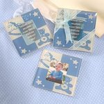 Baby Boy Glass Photo Coaster