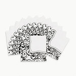 Black & White Luncheon Napkins - Pkg 16