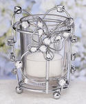 Rhinestone Accented Butterfly Candleholder - 2 Colors!