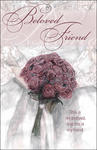 Beloved Friend Rose Bouquet Blank Wedding Programs - Pkg 100
