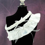 Embroidered I Do Wedding Garter - 3 Colors!