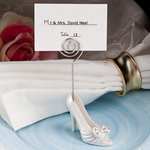 Whimsical shoe design place card holders