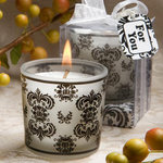 Damask Design Candle Favor