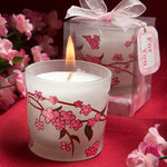 Cheery Cherry Blossom Design Candle