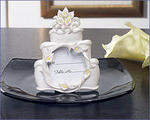 Calla Lily Cake Shape Place Card Frame