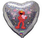 18 Elmo Love Heart Shape Mylar Balloon