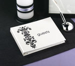 Vintage Bouquet Guest Book - White