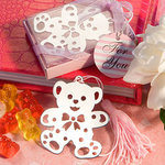 Lovable Teddy Bear Design Bookmark - Pink