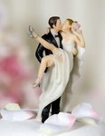 Over the Threshold Wedding Bride and Groom Cake Topper Figurine