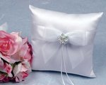 Porcelain Daisy Ring Bearer Pillow