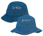 Bride or Groom Denim Beach Hat