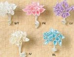 Satin & Pearl Mini Calla Lily Favor Flowers - Pkg 144